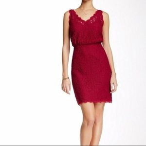 Cranberry Red Lace Dress
